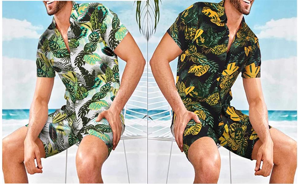ZODOF Camisa Hawaiana Manga Corta Hombre Manga Corta B/ásico con Botones Camisa Hawaiana Hombre Camiseta Fruta Floral Estampado Formales Tops