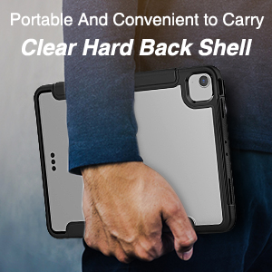 Clear back shell