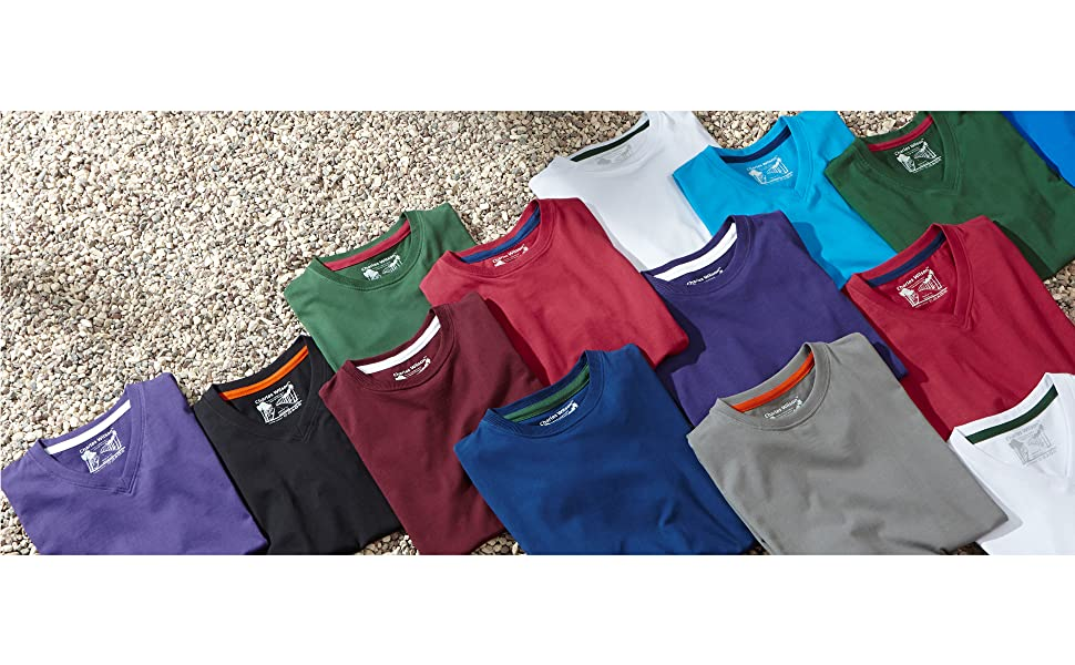 Charles Wilson Men's 5 Pack Plain Crew Neck T-Shirt
