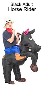 black adult horse rider costume