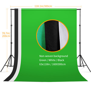 green screen backdrop with stand and lights