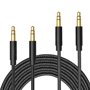 3.5mm Gold-Plated Connector Auxiliary Audio Cable Aux Cord,
