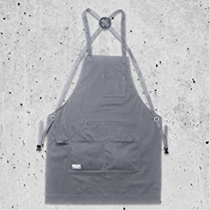 Hudson cotton apron gray apron only