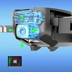 4K 120°FOV adjustable camera