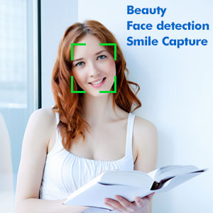 video camera with beauty face