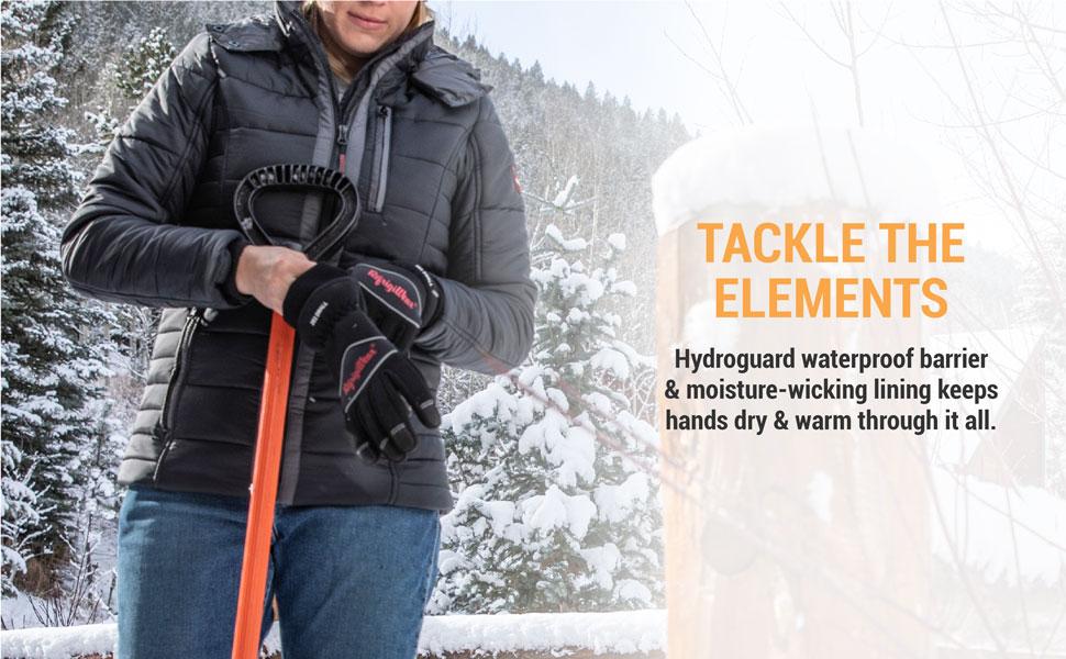 RefrigiWear 0283R Waterproof Fiberfill Insulated Tricot Lined High Dexterity Work Gloves