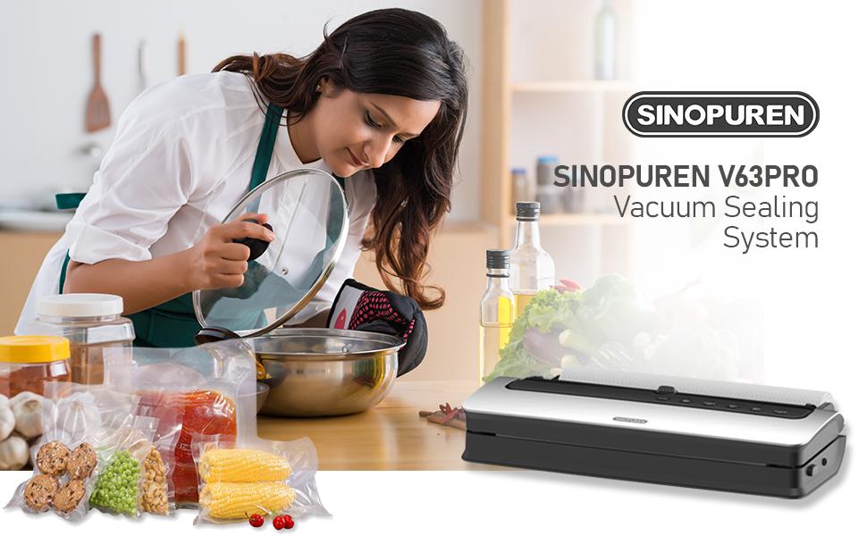 Sinopuren food saver V63PRO vacuum sealer machine p1