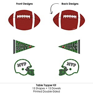 Assorted Sizes Multi-color Creative Converting 102246 Football DIY Centerpiece Sticks