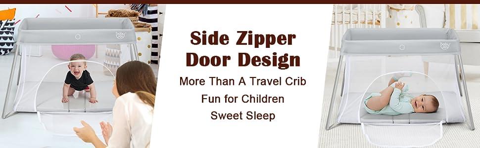 side zipper door design