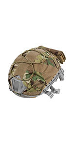 tactical helmet cover with rear battery pouch