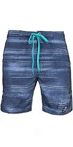 Stretch (Hibiscus)- LAGUNA Mens Stretch Pocket Boardshorts Swim Trunks, UPF 50+