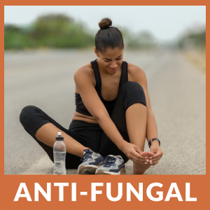 Anti fungal athlete foot nail fungus carrier jojoba argan lavender peppermint tea tree maple