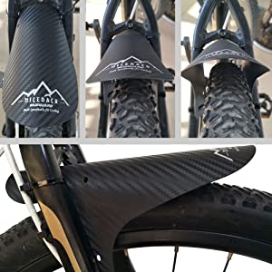 PUNGDUNK 20inch Snowboard Guardabarros Bicicleta el/éctrica E-Bici ala 20x4.0 Grasa Bicicleta Plegable de neum/áticos Guardabarros Guardabarros Traje de Hierro Resistente Duradero Guardabarros