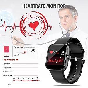 heartrate monitor samrt watches,activity tracker,fitness watch tracker,womens smart watch,fit watch