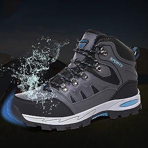 Hiking Boots Mens Waterproof Winter Snow Walking Shoes