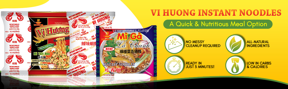 Vi Huong Instant Noodles Healthy Vietnamese
