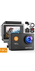 APEMAN 4k action camera Wi-Fi waterproof camera remote control sport camera external mic underwater