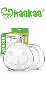 Haakaa Wearable Ladybug Breast Milk Collector Combo for Breastfeeding, 2pcs