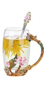 lotus glass cup christmas