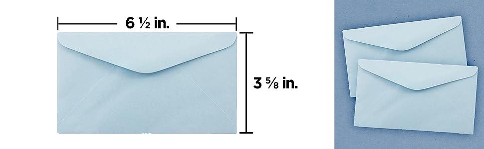 light blue #6.75 envelope