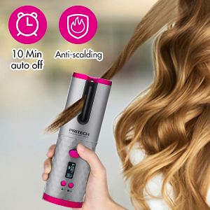 Automatic Hair Curler Cordless Curling Iron Wireless USB Rechargeable Electric Hair Rotating Curler