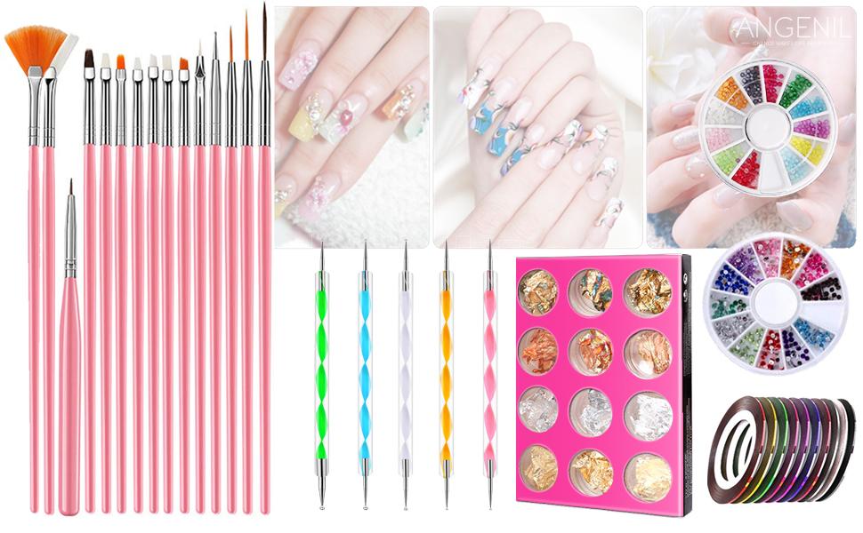 nail brush with pen dot