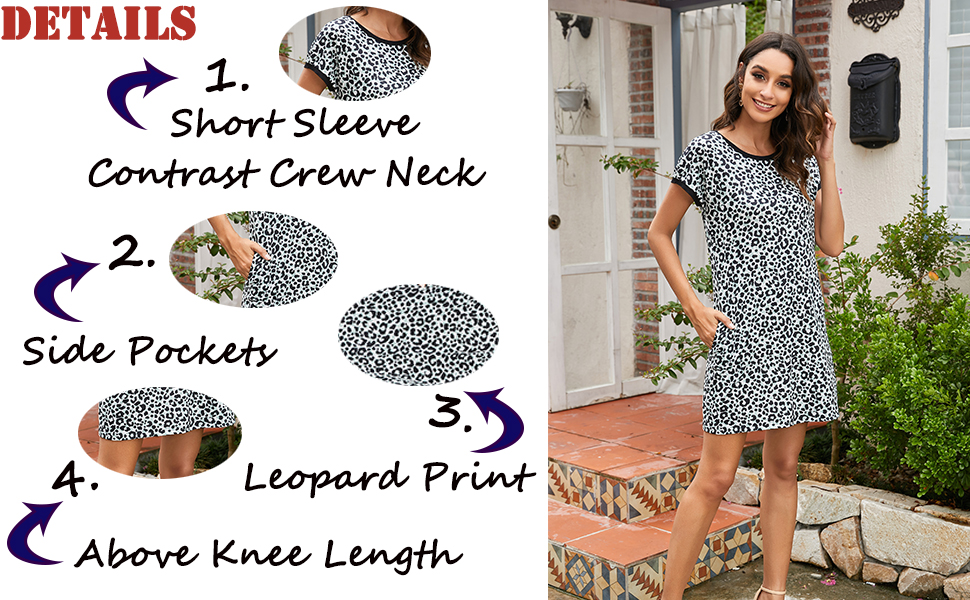 Ekouaer Sexy Nightgown Women Loungewear with Pockets