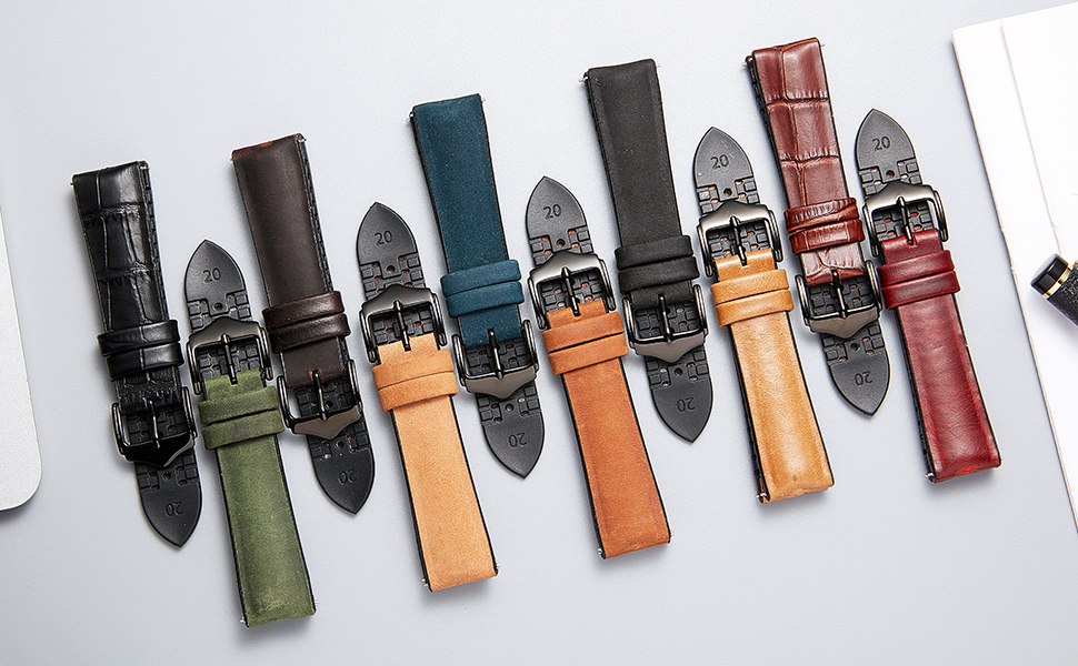 silicone leather hybrid watch strap watch band for men ladies