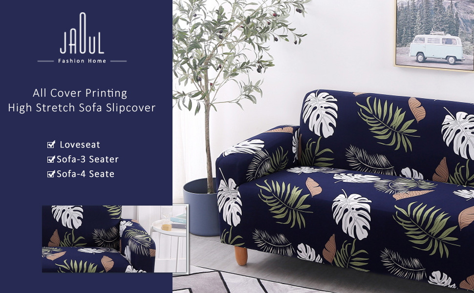 Jaoul Stretch Printed sofa slipcovers with beautiful pattern