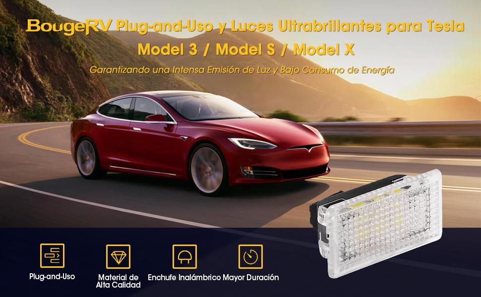BougeRV Juego de bombillas de luces LED interiores ultrabrillantes de reemplazo F¨¢cil de conectar con herramienta de palanca Adecuado para Tesla ...