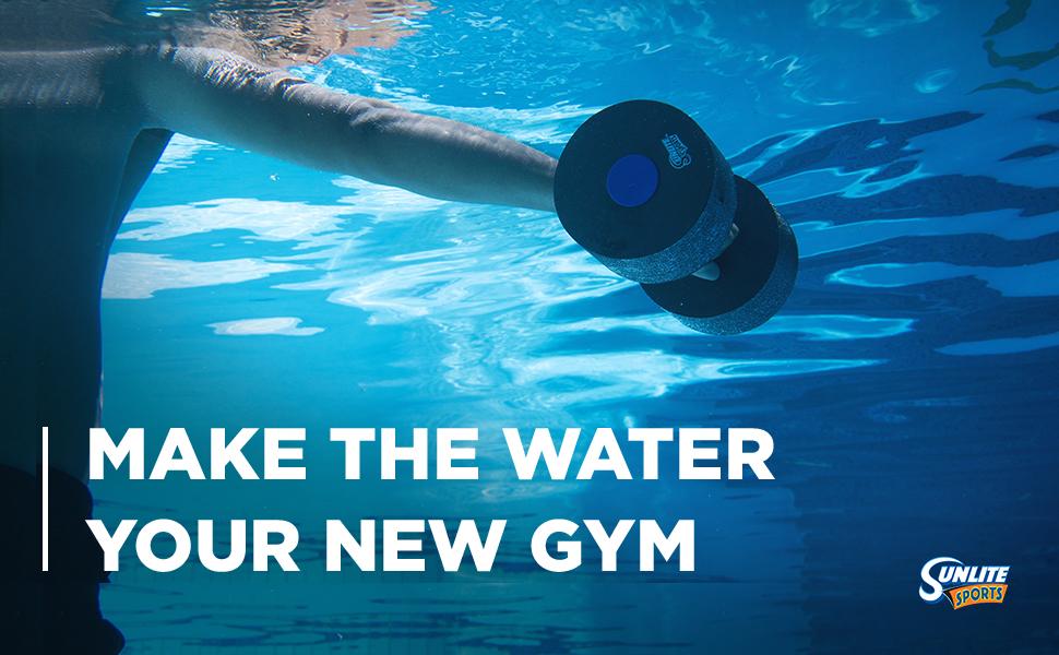Water Dumbbell Weight Pool Exercise Adult Senior Handbar Kickboard Swim Belt Aerobics Gym