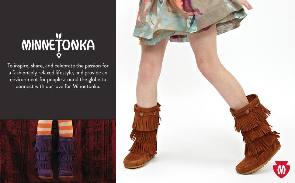 Minnetonka 3 Layer Fringe Boot (Toddler