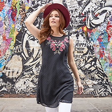 Vest, T-Shirt, Top, Tunic, Lace, Floral, Summer, Holiday, Spring, Fedora, Hat, Ladies