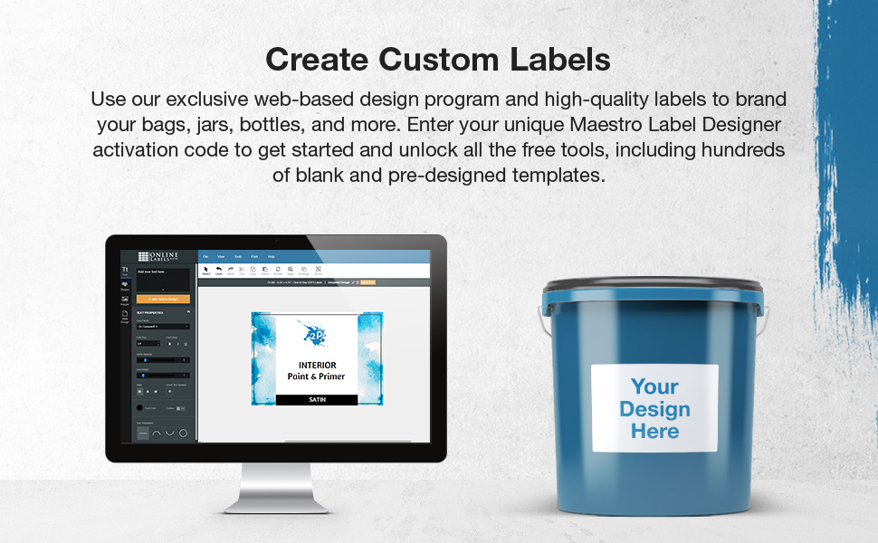 rectangle product project labels maestro designer software
