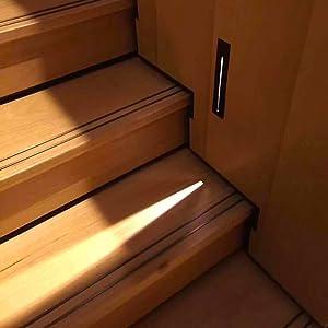 Topmo-plus lámpara empotrable en la Pared iluminacion escalera empotrables LED Lámpara empotrada Exterior / 3W Cree LED COB/Foco empotrable de pared Exterior Interior IP65 21 CM gris: Amazon.es: Iluminación