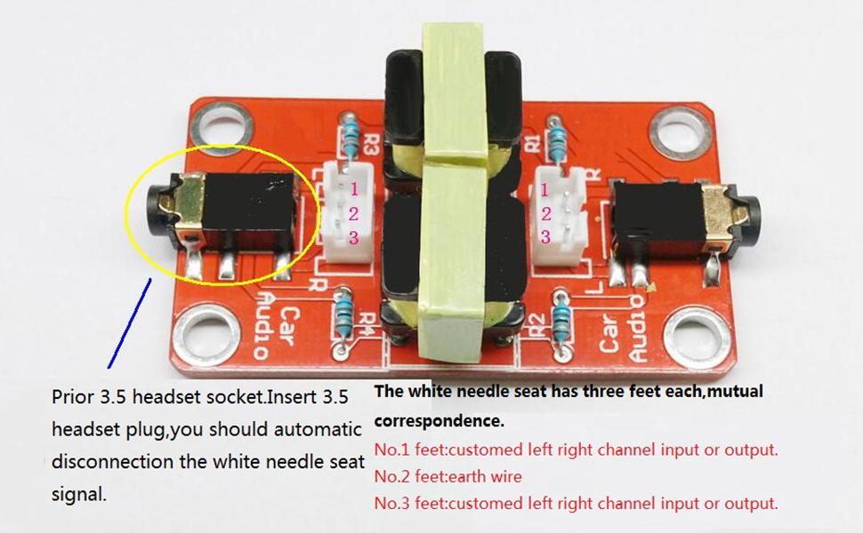 Audio Noise Common Ground Noise Isolator AUX Noise Filter Isolator