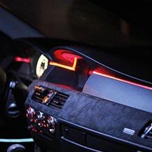 Ambitrim Ambiente Lichtleiste Ambientebeleuchtung 2m Armaturenbrett 4x1m Türen Fußraumb Rgb Bt Rf Auto