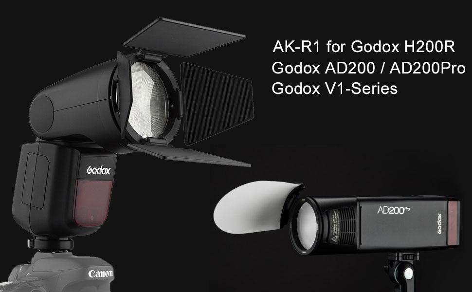 Godox AD200 AK-R1 AK R1 Godox V1-C Flash