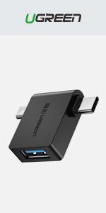 2-in-1 Type C Micro USB OTG Adapter