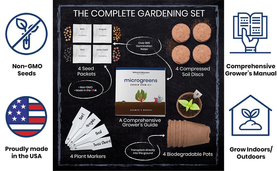Microgreens seed kit