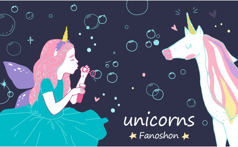 Fanoshon Child Unicorn Tattoo Sticker