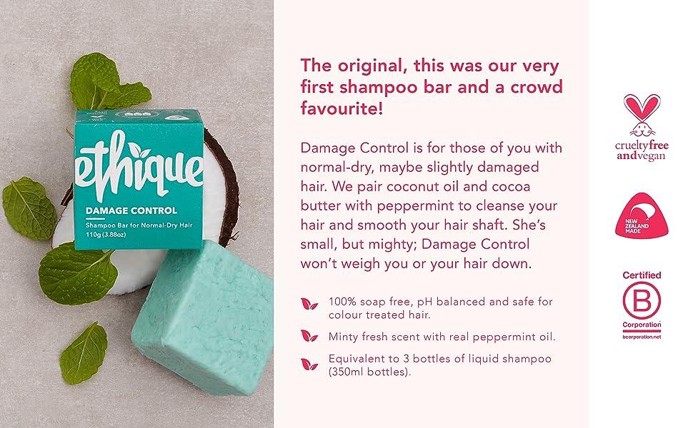 shampoo bar, bottleless shampoo, compostable, palm oil free, plastic free, dry hair, normal hair