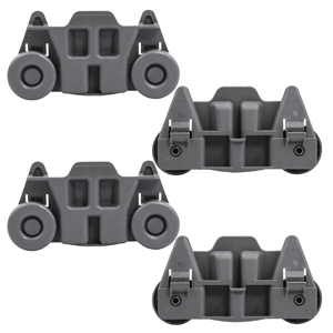UpStart Components Brand Compatible with W10195416V Dishwasher Wheel 4-Pack W10195416 Lower Dishwasher Wheel Replacement for Whirlpool WDF750SAYM3 Dishwasher