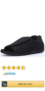 Women Men Adjustable Wide Shoes Swollen Feet Diabetic Edema Slippers Unisex Indoor Outdoor Sandals