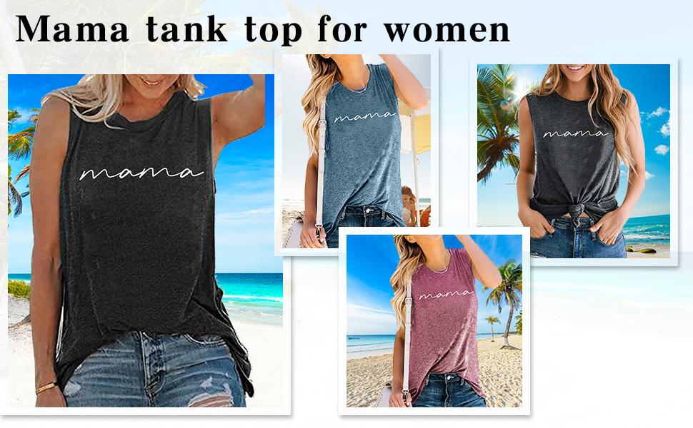MAMA TANK TOP FOR WOMEN
