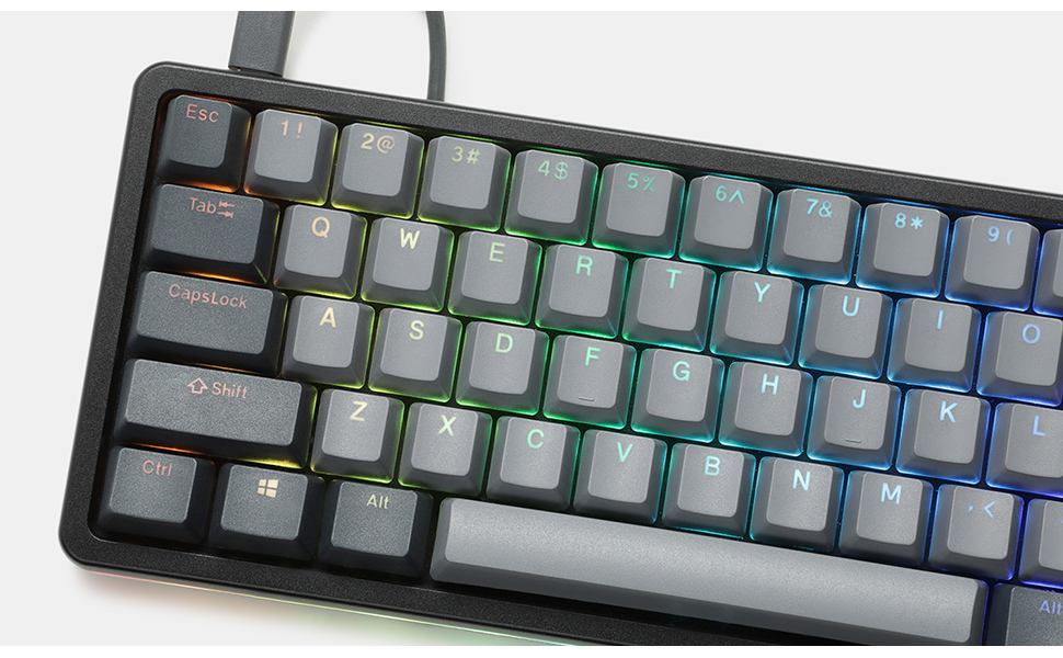 Drop Massdrop ALT wired Keyboard Mechanical 65% compact USB-C hot-swap PCB plate-mount switches