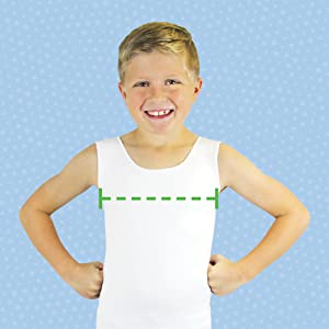 Measure around the fullest part of the chest, pressure vest, proprioceptive input, tag free