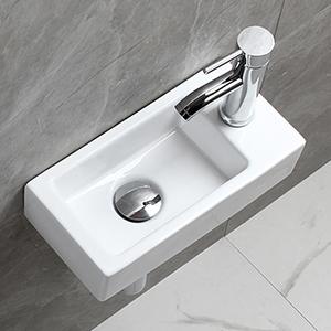 white bathroom wall mounted sink