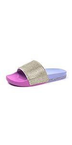 Glitter Slides for Women