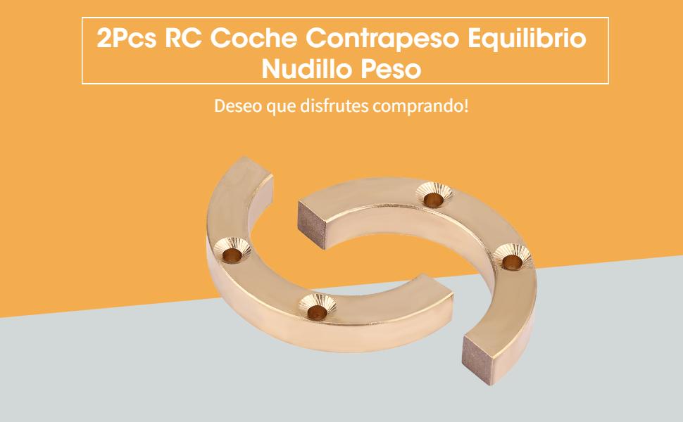 Dilwe 2Pcs RC Coche Contrapeso Equilibrio Nudillo Peso para Traxxas TRX-4 1:10 Crawler